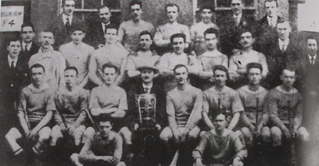 Dublin All-Ireland Hurling Champions 1924. Back Row: E Fleming, P Donnelly, R Doherty, J Bannow, T Kelly, P Kenefick, J Ryan. Third Row: R McCowen ( Hon Sec), M Drumgoole, P Cavanagh (trainer), M Darcy, P Ayleward, J Walsh, M Holland, J Holland, J Connoy, R Mockler, A Harty (chairman Co Board), J O'Neill (treasurer). second row: T Finlay, T Barry, F Wall (capt), P J Walsh (president), D O'Neill (vice-capt), W Small, G Howard, M Gill. Front Row: W Banin, T Daly.