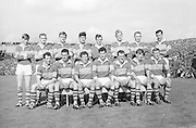 All Ireland Senior Football Championship Final, Kerry v Down, 22.09.1968, 09.22.1968, 22nd September 1968, Down 2-12 Kerry 1-13, Referee M Loftus (Mayo).Captain J Lennon,.The Kerry Team,.Back row (from left) Eamon O'Donoghhue, Sean Burrows, Mick Morris, Mick O'Dwyer, Johnny Culloty, Paud O'Donoghue, D J Crowley, Mick Fleming. Front row (from left) Seamus Murphy, Mick O'Connell, Tom Prendergast, Pat Griffin (capt), Denis O'Sullivan, Brendan Lynch, Donie O'Sullivan,