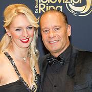 NLD/Amsterdam/20151015 - Televizier gala 2015, Ron Boszhard en partner Emilie Rozenga
