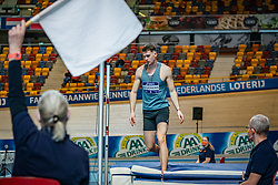 Owen Beuckens in action on high jump during the all-around at the Dutch Athletics Championships on 13 February 2021 in Apeldoorn