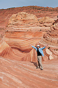 View of North Coyote Butte special permit access area of the Paria Canyon Wilderness Area/Vermillion Cliffs; Bureau of Land Management, northern Arizona, US