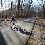 Competitors in action during the The 3rd Annual Newtown Cyclocross Race in the Fairfield Hills and the Town's Municipal Center. Newtown, Connecticut, USA. 15th November 2015. Photo Tim Clayton