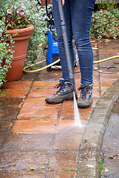 Jet washing paths and paving