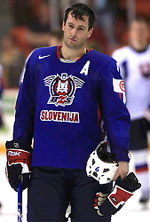Tomaz Razingar of Slovenia at ice-hockey game Slovenia vs Slovakia at Relegation  Round (group G) of IIHF WC 2008 in Halifax, on May 09, 2008 in Metro Center, Halifax, Nova Scotia, Canada. Slovakia won 5:1. (Photo by Vid Ponikvar / Sportal Images)