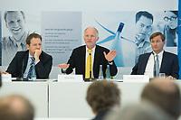 11 JUN 2012, BERLIN/GERMANY:<br /> Prof. Dr. Bernhard Lorenz, Geschaeftsfuehrer Stiftung Mercator, Rainer Baake, Direktor Denk- und Politiklabor Agora Energiewende, Dr. Johannes Meier, CEO European Climate Foundation, (v.L.n.R.), Pressekonferenz anl. des Arbeitsbeginns des Think-Tanks Agora Energiewende, Projektzentrum Berlin Stiftung Mercator<br /> IMAGE: 20120611-01-040