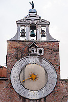 Italy, Venice. Church bell tower.