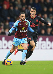 26 November 2017 -  Premier League - Burnley v Arsenal - Steven Defour of Burnley in action with Granit Xhaka of Arsenal - Photo: Marc Atkins/Offside