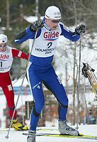 LANGRENN WC 50 KM HOLMENKOLLEN 28. FEBRUAR 2004 SVEIN TORE SINNES (2) OG EIVIND-JUUL PEDERSEN (1) NORGE <br />FOTOGRAF: KURT PEDERSEN DIGITALSPORT