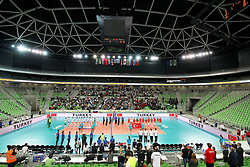 Players and general view of arena during the volleyball match between National team of Turkey and Slovenia in Gold Medal game of Womens U23 World Championship 2017, on September 17, 2017 in SRC Stozice, Ljubljana, Slovenia. Photo by Morgan Kristan / Sportida