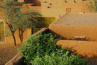 Niger,Agadez,2007. Late afternoon view from the second floor of Mohammad Ixa's family home. Most homes in Agadez are only one story high.