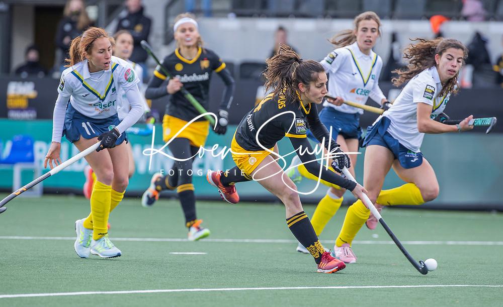 AMSTELVEEN - Pleun van der Plas (DenBosch)  tijdens  de Euro Hockey League finale dames, HC Den Bosch-Club Campo de Madrid (5-0).  COPYRIGHT KOEN SUYK