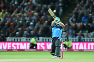Worcestershire Rapids Ben Cox hits 6 during the final of the Vitality T20 Finals Day 2018 match between Worcestershire rapids and Sussex Sharks at Edgbaston, Birmingham, United Kingdom on 15 September 2018.