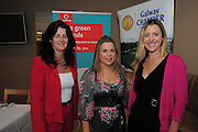 This week, Galway Chamber hosted a Green event for Chamber members on environmental issue. The event was a call to action for local businesses on the fight against climate change and the real economic benefits it can deliver for businesses. The Galway event is part of a Green seminar series which are sponsored by Vodafone. At the event in the Harbour Hotel were Faith Fahy Finacial Consultant ,   Laura Turkington, CR Manager Vodafone Ireland, and  Roisin McNamara CCP.  Photo:Andrew Downes