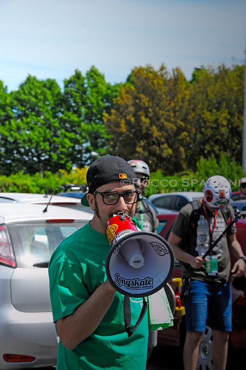 """14 maggio, quarta edizione di """"GREEN SKATE DAY"""", promossa da SnowPress e Longskate Riders Rome con il patrocinio del IX Municipio."""
