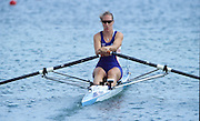 Sydney, AUSTRALIA, GBR W1X Debbie FLOOD, moves away from the start pontoon, at the 2000 Olympic Regatta, Penrith Lakes. [Photo Peter Spurrier/Intersport Images] 2000 Olympic Regatta Sydney International Regatta Centre (SIRC) 2000 Olympic Rowing Regatta00085138.tif