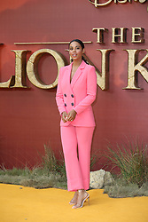 Rochelle Humes and Marvin Humes attend the premiere of The Lion King in London.<br />