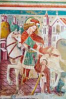 Croatie, Istrie, côte adriatique, Beram, chapelle et eglise Sainte Marie ou Sveti Marija, fresque, Saint Florian // Croatia, Adriatic coast, Istria, Beram, frescoes of the church of St Mary, St Florian