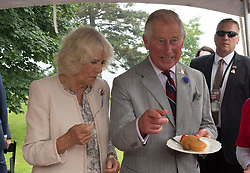 The Prince of Wales and The Duchess of Cornwall during their visit to Wellington Farmer's Market, Lake Ontario during day two of their visit to Canada.