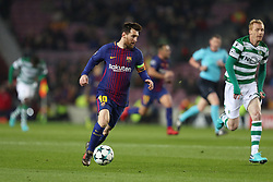 December 5, 2017 - Barcelona, Catalonia, Spain - LIONEL MESSI of FC Barcelona during the UEFA Champions League, Group D football match between FC Barcelona and Sporting CP on December 5, 2017 at Camp Nou stadium in Barcelona, Spain. (Credit Image: © Manuel Blondeau via ZUMA Wire)