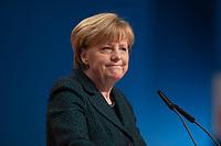 09 DEC 2014, KOELN/GERMANY:<br /> Angela Merkel, CDU, Bundeskanzlerin, haelt ihre Rede als Parteivorsitzende der CDU, CDU Bundesparteitag, Messe Koeln<br /> IMAGE: 20141209-01-021<br /> KEYWORDS: Party Congress