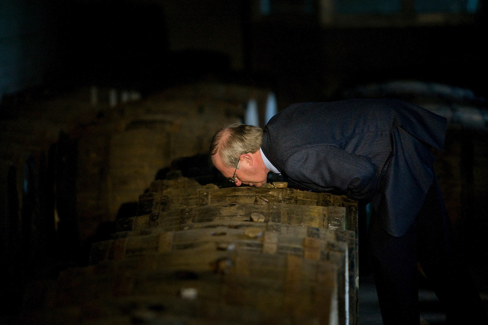 PICTURES TAKEN AT THE BALVENIE IN DUFFTOWN OF DAVID STEWART SELECTING WHISKY FOR THE NEXT SIGNATURE RELEASE