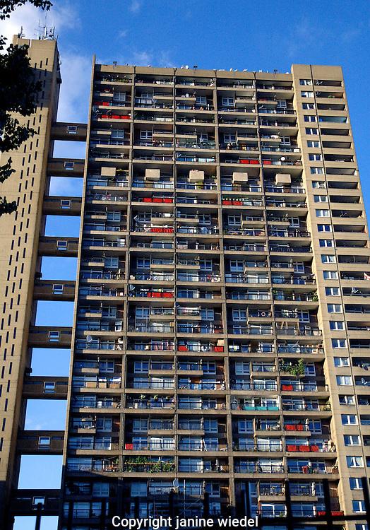 massive urban highrise flats in Kensal Green West London.