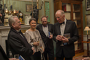 PROFESSOR MIKHAIL PIOTROVSKY; INNA BAZHENOVA,; TIMO KULOKOFF,; LORD JACOB ROTHSCHILD,  Professor Mikhail Piotrovsky Director of the State Hermitage Museum, St. Petersburg and <br /> Inna Bazhenova Founder of In Artibus and the new owner of the Art Newspaper worldwide<br /> host THE HERMITAGE FOUNDATION GALA BANQUET<br /> GALA DINNER <br /> Spencer House, St. James's Place, London<br /> 15 April 2015