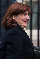 London, March 3rd 2015. Members of the cabinet arrive at 10 Downing Street for their weekly meeting. PICTURED: Education Secretary Nicky Morgan
