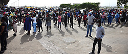 South Africa -Cape Town - 07 May 2020- Situation is still bad in Khayelitsha as shoppers and SASSA grant beneficiaries are standing in queues.The police and and army a assisting in trying to manage the situation as some are not practicing the social distance.photographs :Phando Jikelo/african News Agency(ANA)