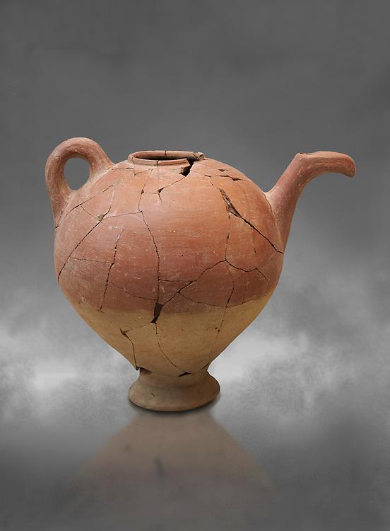 Hittite spouted teapot, Hittite capital Hattusa, Hittite  Middle  Kingdom 1650-1450 BC, Bogazkale archaeological Museum, Turkey.