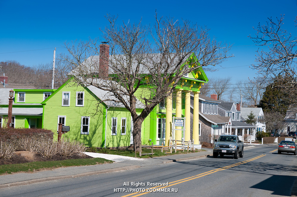 Old Village Galley, green house in Chatham, Cape Cod