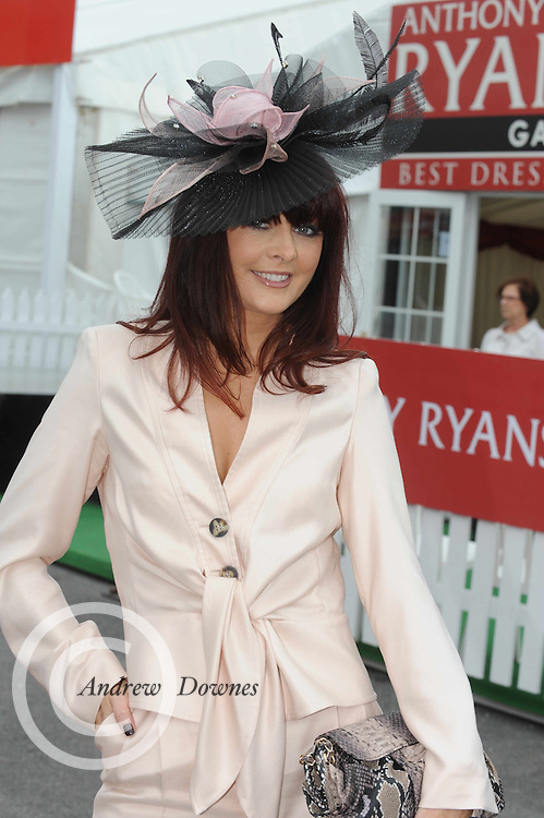 MAndy MAher one of the Judges for the Anthony Ryan Best dressed Competition at Ladies day of the Galway Races in Ballybrit. Photo:Andrew Downes