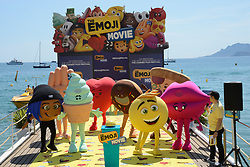 General atmosphere during the Emoji Movie photocall at the Carlton beach in Cannes, France on May 16, 2017. Photo by Aurore Marechal/ABACAPRESS.COM