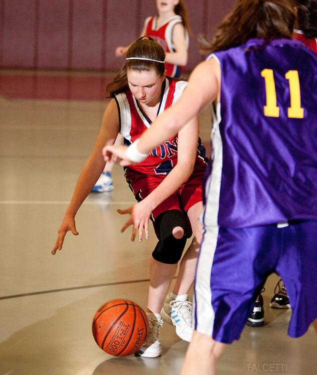 The Master's School, West Simsbury, CT. 2010-2011. Girls Varsity basketball.  (Photo by Robert Falcetti). .