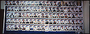Headshots of members of the Parliament displayed in a National Assembly in Kabul.