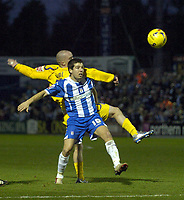 Photo: Olly Greenwood.<br />Colchester United v Leicester City. Coca Cola Championship. 13/01/2007. Colchester's Kem Izzett and Leicester's Iain Hume