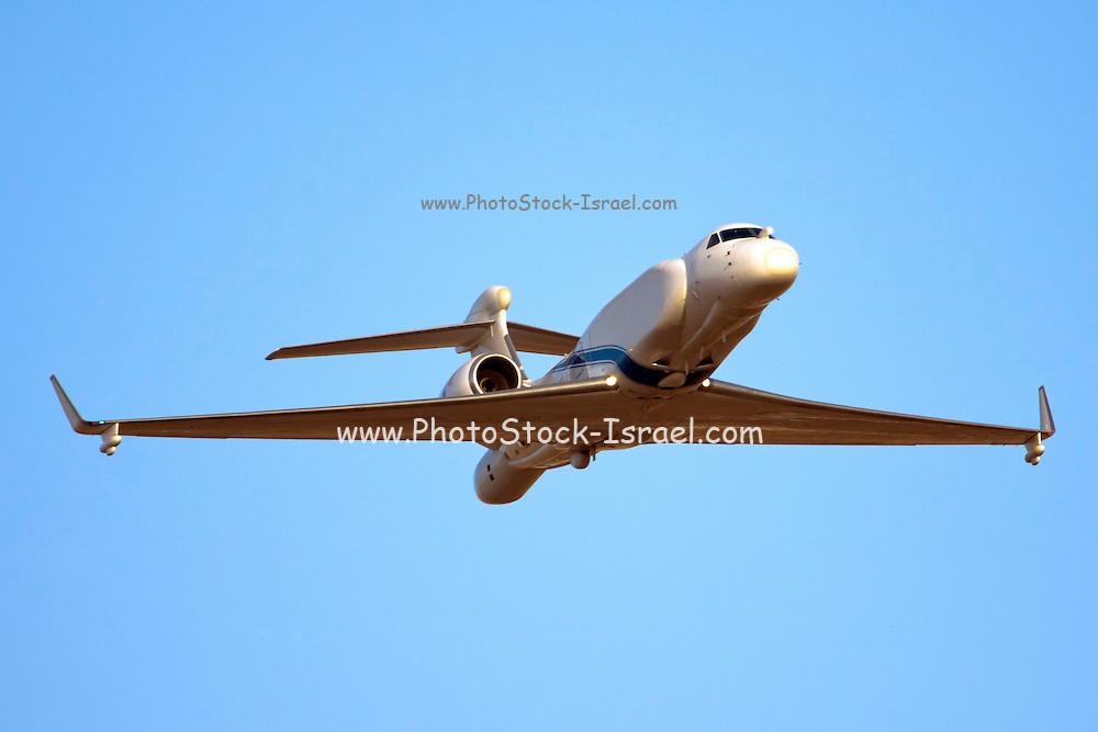 Israeli Air Force Gulfstream G550 business jet aircraft produced by General Dynamics' Gulfstream Aerospace unit