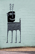 Strange creature on a building in Spruce Pine, North Carolina