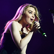 BETHLEHEM, PA - AUGUST 12:  Actress and Singer, Sabrina Carpenter performs during Musikfest at Sands Steel Stage at PNC Plaza on August 12, 2016 in Bethlehem, Pennsylvania.  (Photo by Lisa Lake/Getty Images)