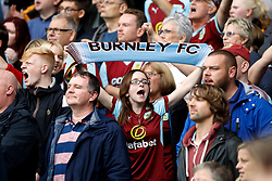 Burnley fans in the stands