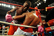 """Jr featherweight Lamar Charlton (1-2-1, 1 KO) was credited with a knockdown of Hairon """"El Maja"""" Socarras (4-0-1, 4 KOs) in round four, which helped make the scores 38-37 Charlton, 38-37 Socarras and 38-38 on Friday night, October 14, 2011 at the Kissimmee Civic Center in Kissimmee, Florida."""