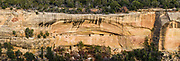 Panorama of one of the ruins along Cliff Palace Loop drive.