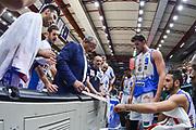 DESCRIZIONE : Beko Legabasket Serie A 2015- 2016 Dinamo Banco di Sardegna Sassari -Vanoli Cremona<br /> GIOCATORE : Romeo Sacchetti<br /> CATEGORIA : Allenatore Coach Time Out<br /> SQUADRA : Dinamo Banco di Sardegna Sassari<br /> EVENTO : Beko Legabasket Serie A 2015-2016<br /> GARA : Dinamo Banco di Sardegna Sassari - Vanoli Cremona<br /> DATA : 04/10/2015<br /> SPORT : Pallacanestro <br /> AUTORE : Agenzia Ciamillo-Castoria/L.Canu