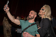 MISS FAME, Hermes party to celebrate the opening of their new store in the Meatpacking district, 300 Vesey st.   New York. 4 April 2019