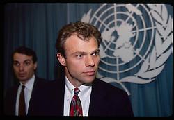 Bosnian Ambassador to the United Nations, Muhamed Sacirbey.