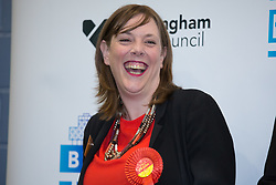 © Licensed to London News Pictures. 09/06/2017. Birmingham, UK. JESS PHILLIPS, retains her seat for Yardley with a massive majority at the count in Birmingham. Photo credit: Dave Warren/LNP