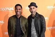 100% NL Awards 2018 in Panama, Amsterdam.<br /> <br /> Op de foto:  Urvin Monte en Ivo Chundro