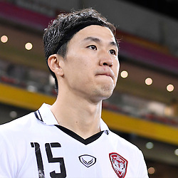 BRISBANE, AUSTRALIA - FEBRUARY 21: Lee Ho of Muangthong United walks out during the Asian Champions League Group Stage match between the Brisbane Roar and Muangthong United FC at Suncorp Stadium on February 21, 2017 in Brisbane, Australia. (Photo by Patrick Kearney/Brisbane Roar)