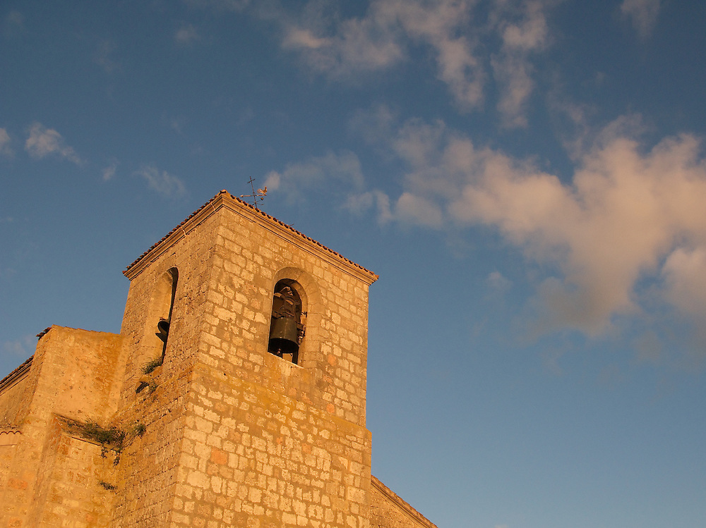 As the light faded, the church changed to a deeper and deeper red and orange. The clouds became a wonderful pink. There were churches in many of the villages along the Way of Saint James.