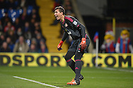 Goalkeeper Costel Pantilimon of Sunderland in action. Barclays Premier league match, Crystal Palace v Sunderland at Selhurst Park in London on Monday 23rd November 2015.<br /> pic by John Patrick Fletcher, Andrew Orchard sports photography.